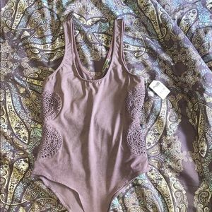 Charlotte Russe suede body suit